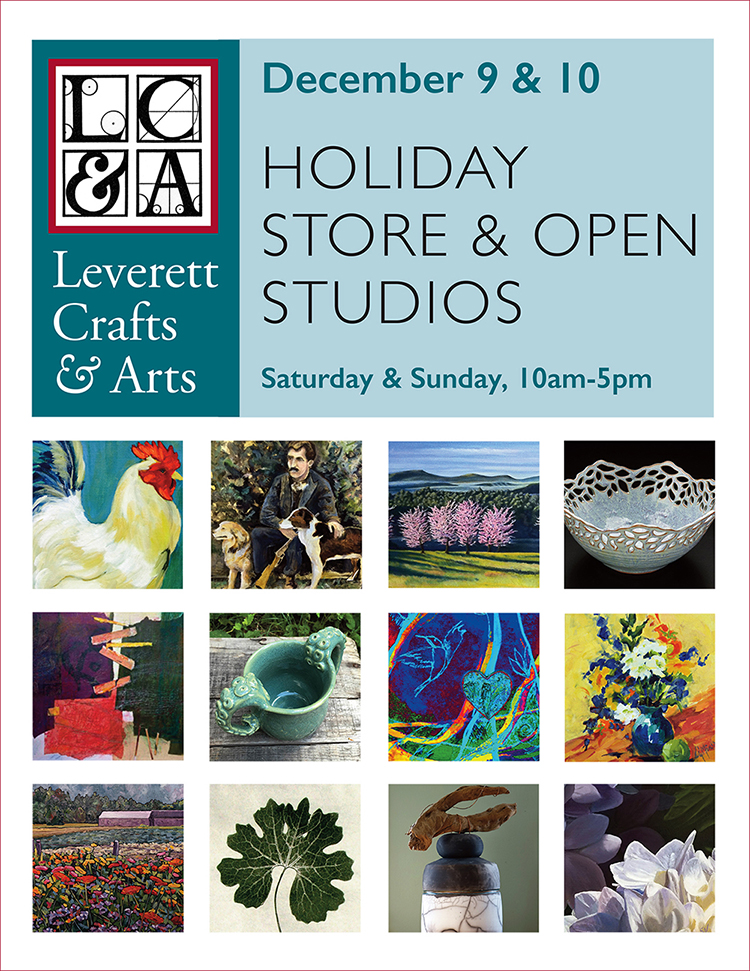 December 9&10 Holiday Store & Open Studios. Saturday & Sunday, 10-5